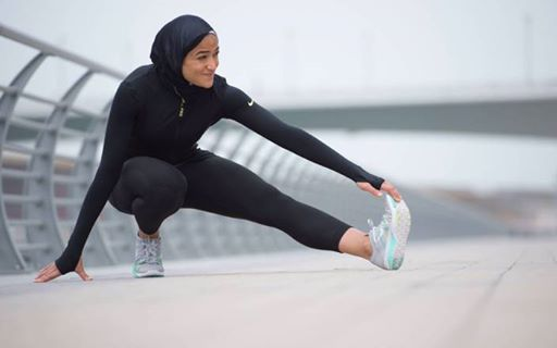 صورة أول إمرأة محجبة في إعلان لشركة ملابس رياضية عالمية