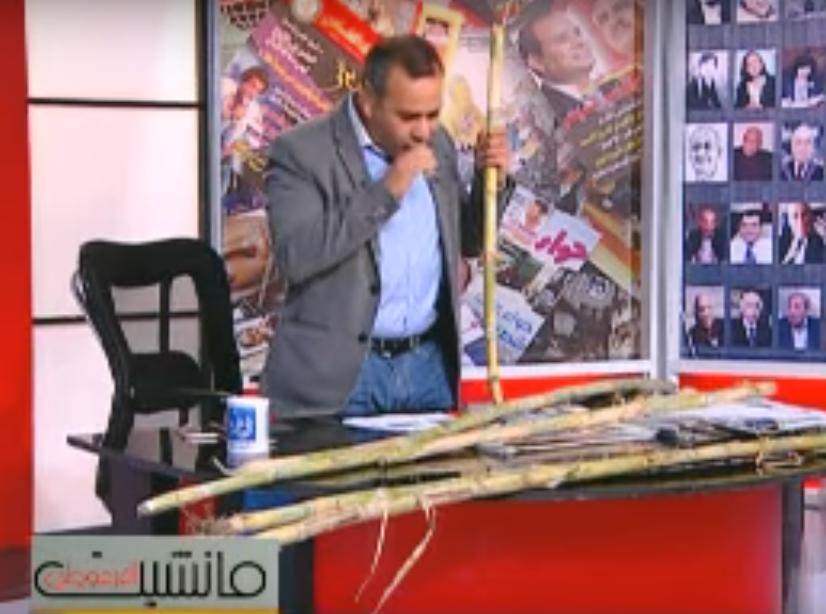 جابر القرموطي يمص عود قصب علي الهواء الشرقية توداي