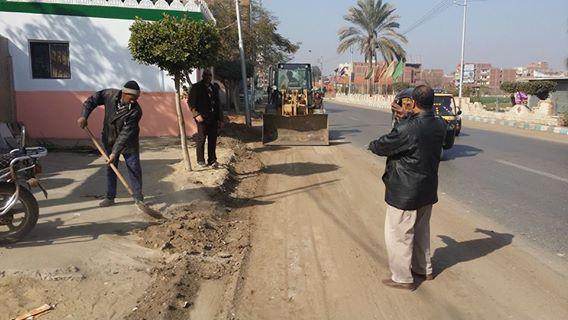 صورة بالصور .. حملة نظافة لتجميل شوارع مدينة القنايات