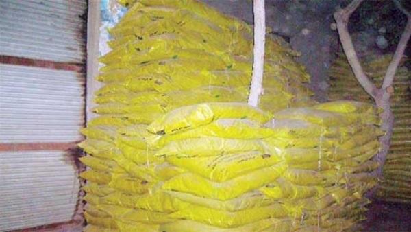 صورة ضبط 700 كيلو مكرونة بمصنع غير مرخص بصان الحجر