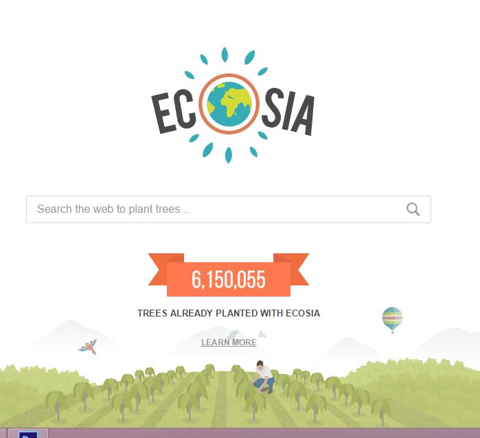 صورة «ECOSIA » متصفح إلكتروني يزرع الأشجار في كوكب الأرض