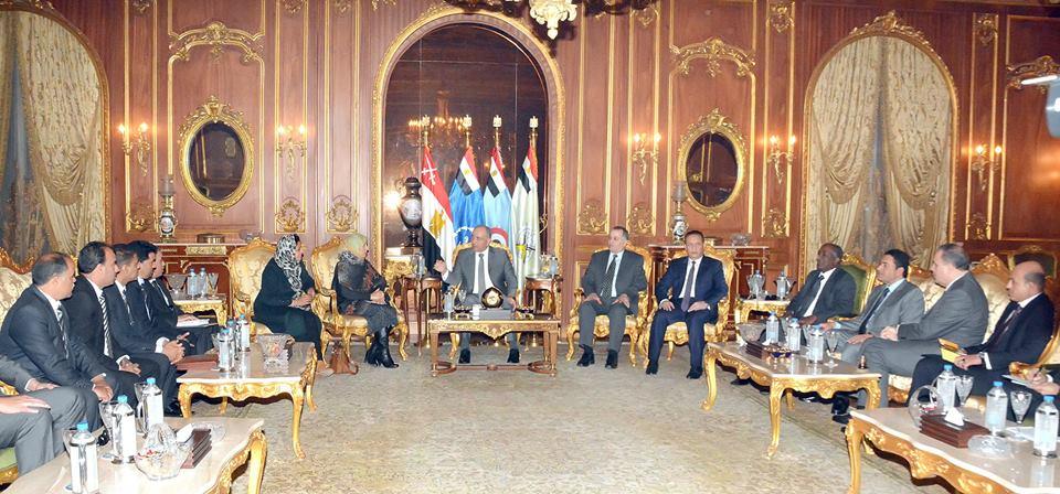 صورة اللجنة المصرية المعنية بليبيا تستقبل وفد «المؤتمر الوطني» المنتخبين
