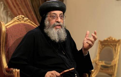 تواضروس يستقبل الرئيس اللبناني بالكاتدرائية المرقسية