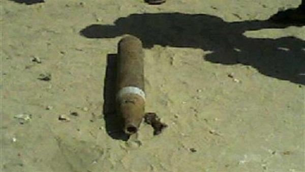 صورة العثور على دانة مدفع من مخلفات الحرب بالصالحية الجديدة