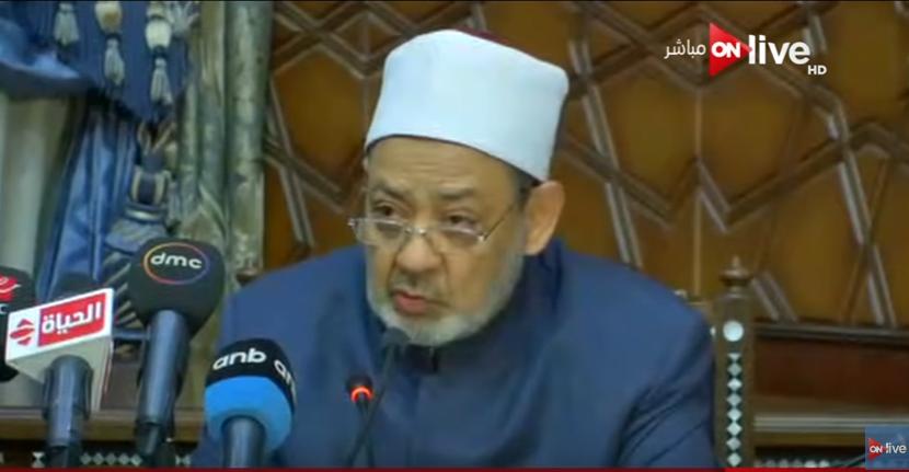 صورة بالفيديو.. شيخ الأزهر: «من جاوز السبعين عاما يدرك خلود مصر»