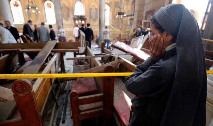 صورة داعش ينشر أول تسجيل مصور لمفجر الكنيسة البطرسية وماذا قال المهاجم عن الإخوان وحزب النور؟
