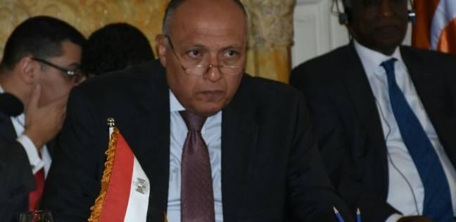 صورة وزير الخارجية يتواصل مع نظيره الجابوني لتأمين سفر المشجعين المصريين لحضور نهائي إفريقيا