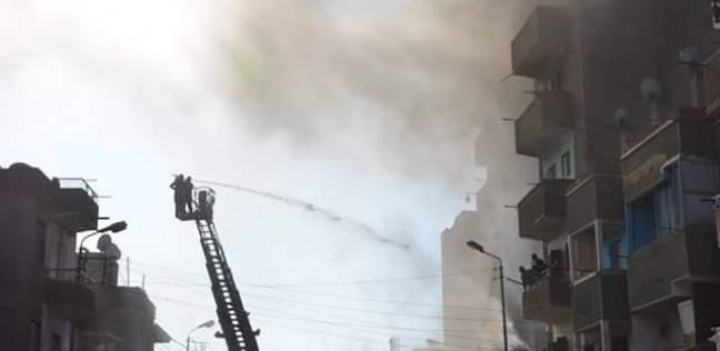 صورة حريق يلتهم مبنى مديرية أمن الدقهلية
