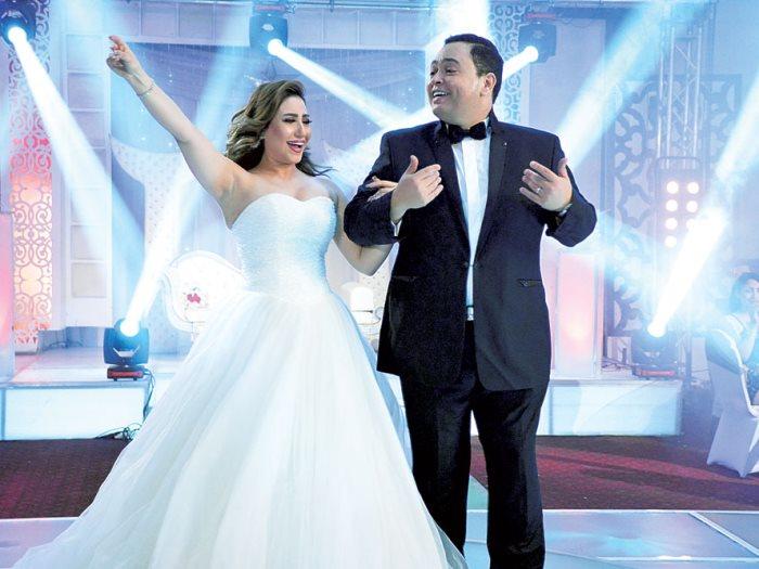 صورة بالصور.. زفاف أحمد رزق وبوسى فى فيلم «يجعله عامر»