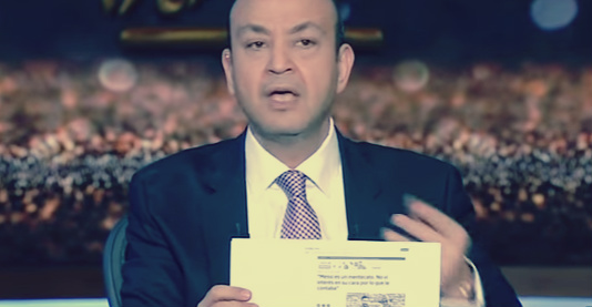 صورة بالفيديو.. عمرو أديب ينفعل على الهواء بسبب زاهي حواس
