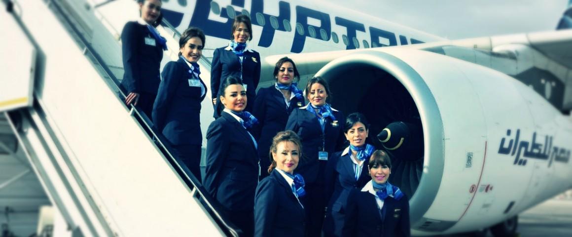 صورة رحلتان على «مصر للطيران» بطاقم نسائي كامل: 19 امرأة يتوجهن إلى أبوظبي والكويت