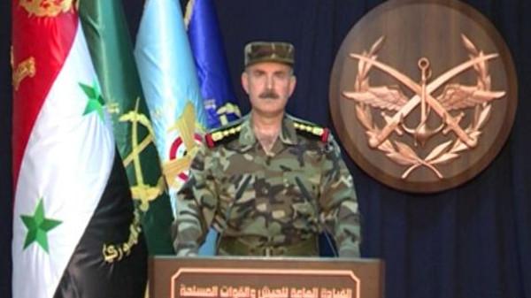 صورة أغرب رد من الجيش السوري على الضربة الأمريكية