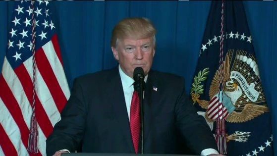 صورة ترامب بعد ضرب سوريا : هكذا حققت أمريكا العدالة
