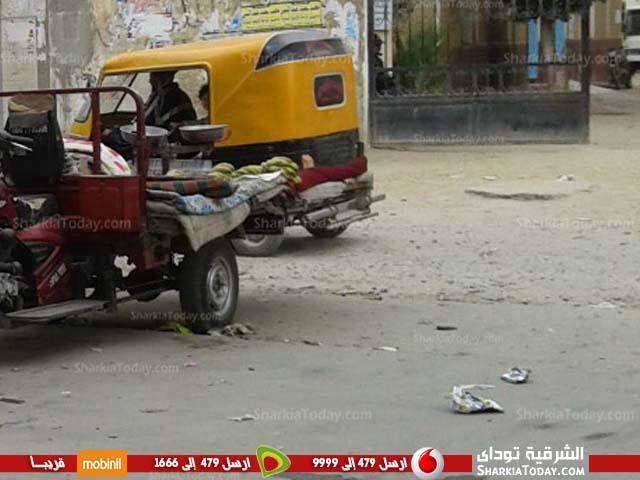 صورة شكاوى أهالي كفر صقر بسبب سوء حالة الطرق