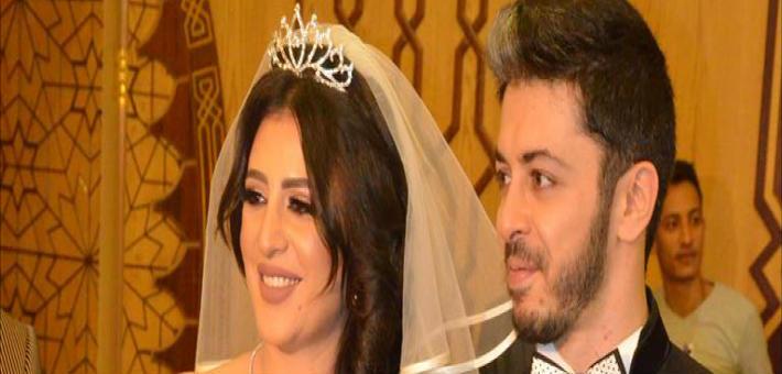 صورة عروس هيثم محمد تتعرض لموقف محرج أثناء عقد القران