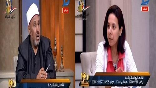 صورة بالفيديو.. فتاة: خلعت الحجاب تقربًا إلى الله ووكيل الأوقاف: «أنتى مذنبة»