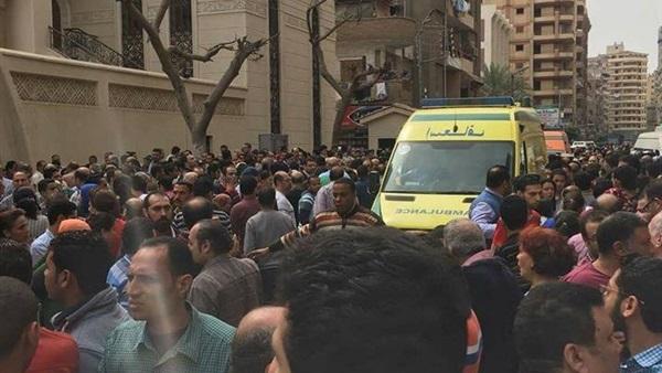 صورة أحد الناجين من تفجير كنيسة طنطا يروي تفاصيل عن الانتحاري