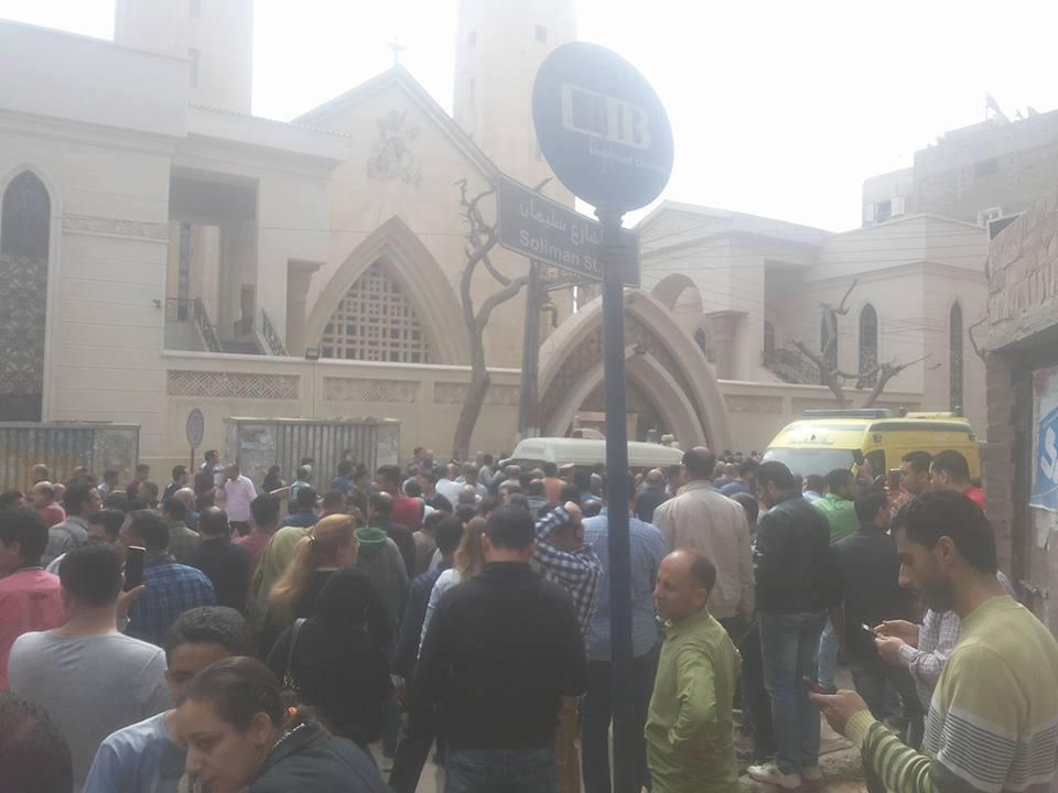 صورة ناجية من تفجير كنيسة طنطا تروي تفاصيل الحادث
