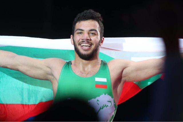 صورة المصارع المصرى المجنس لبلغاريا : حلمى الآن أصبح حقيقة