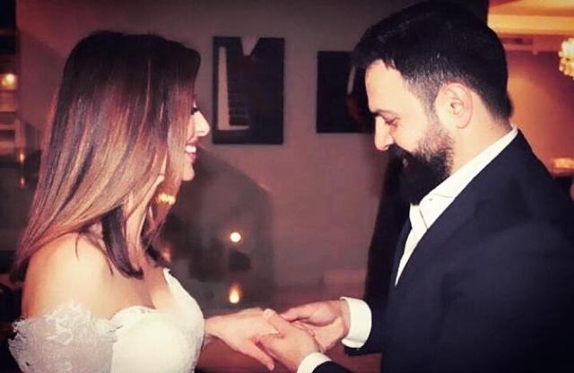 صورة التعليق الأول لوفاء الكيلاني وتيم حسن بعد زواجهما