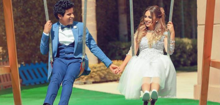 صورة الصورة الأولى لحمدى الميرغني وإسراء عبد الفتاح بعد الزواج