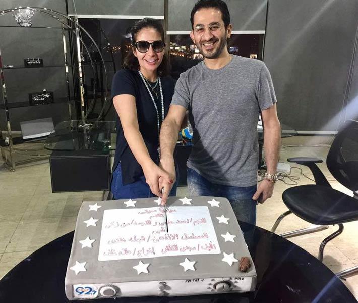 .. تفاصيل العمل الذي يجمع أحمد حلمي بزوجته في رمضان 2017
