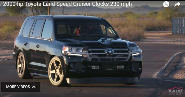 صورة تويوتا لاند كروزر معدلة تحقق لقب أسرع سيارة في العالم