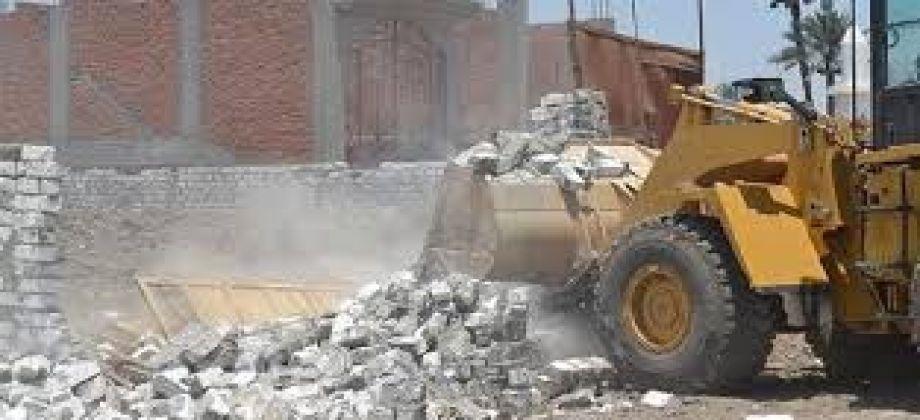 صورة لليوم الثامن على التوالي .. إزالة 36 حالة تعدي على أراضي الدولة بالشرقية