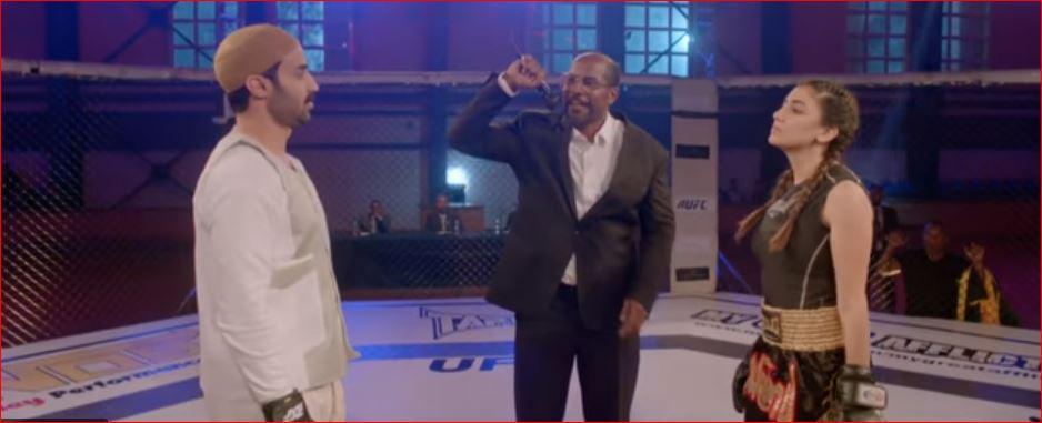 صورة بالفيديو .. مي عمر مع زوجها في مباراة ملاكمة .. الحلقة الثالثة من «ريح المدام»