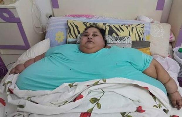 صورة أبوظبي تمنع أي شخص من الاقتراب بالمصرية أسمن إمرأة بالعالم