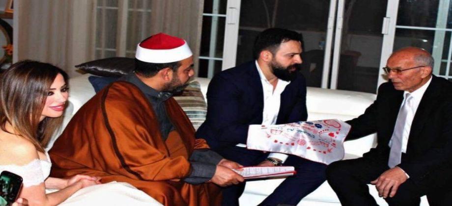 صورة عقد قران الإعلامية وفاء كيلاني والممثل تيم حسن