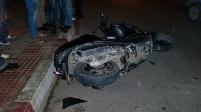 صورة إصابة أمين شرطة وطالبين أخرين في حادث تصادم بكفر صقر