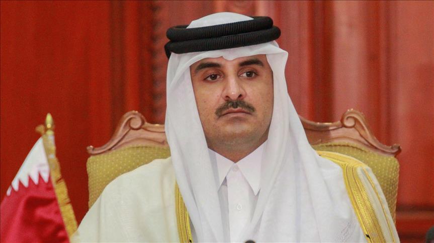 صورة بالفيديو .. الجزيرة تقطع خطاب أمير قطر بعد لحظات من البث