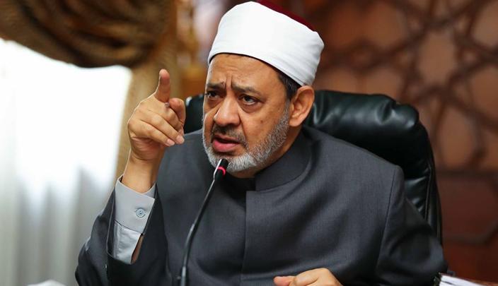 صورة أول تعليق من الإمام الأكبر شيخ الأزهر على حادث كنيسة حلوان