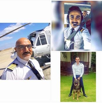 صورة آخر ما نشره ضحايا طائرة التدريبات المدنية بالفيوم