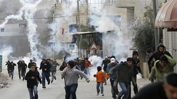 الاحتلال تطلق النار بشكل عشوائي على المتظاهرين فى نابلس وبيت لحم