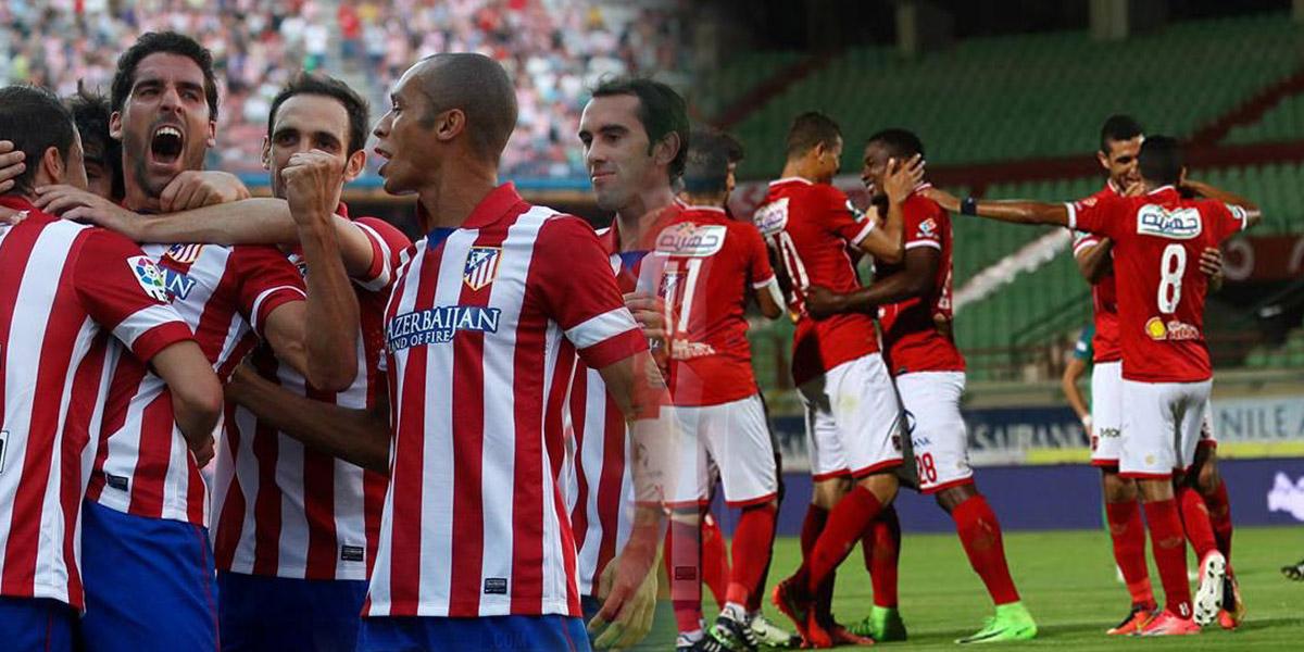 صورة اللاعبين المشاركين مع الأهلي أمام أتليتكو مدريد اليوم