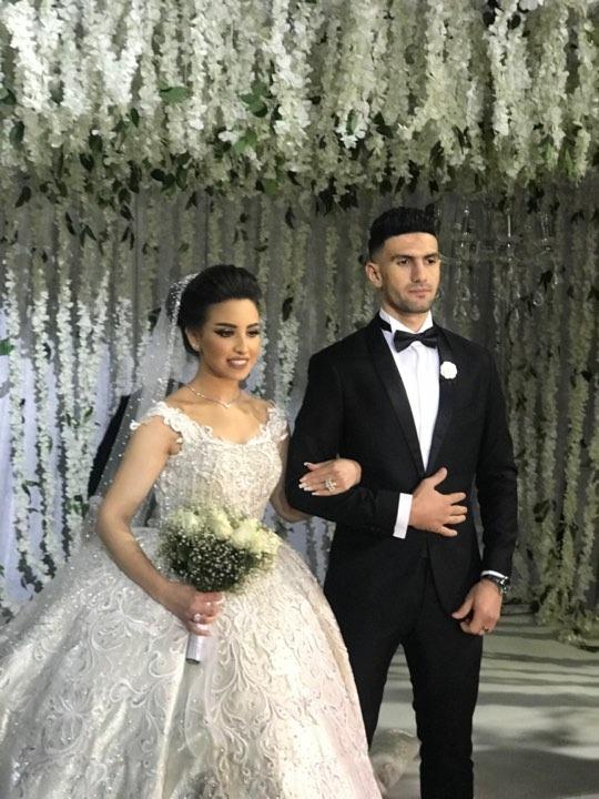 صورة محمد عواد يحتفل بزفافه فى حضور نجوم الكرة