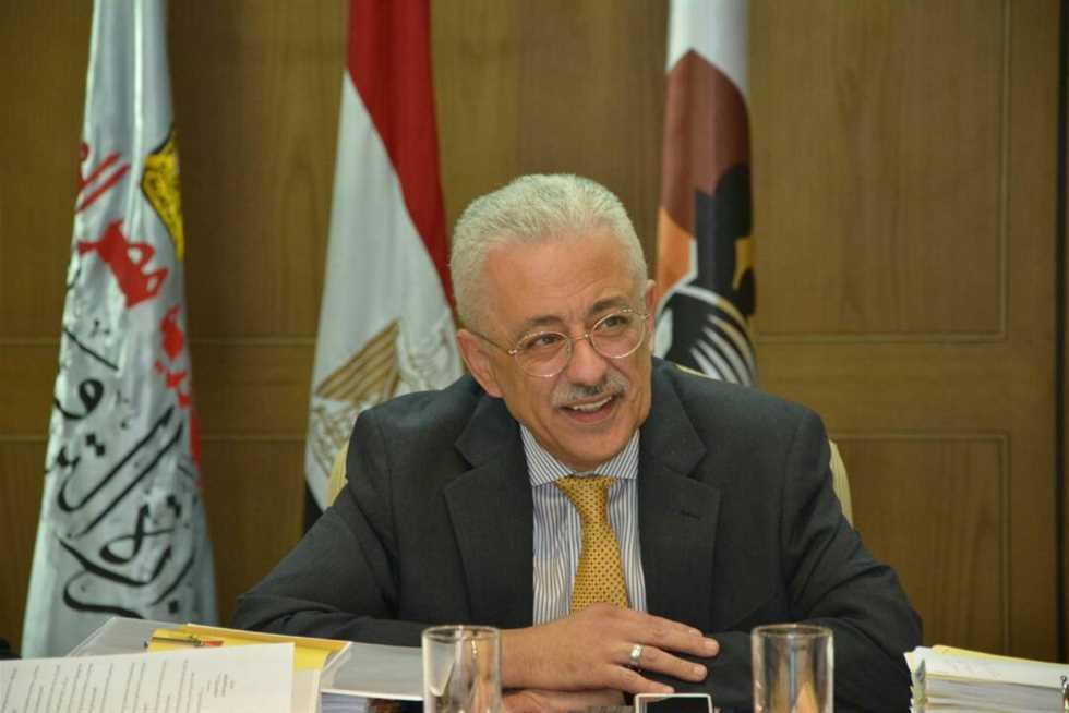 صورة وزير التعليم: إلغاء الثانوية العامة بعد سنتين وتسليم مليون تابلت للطلبة