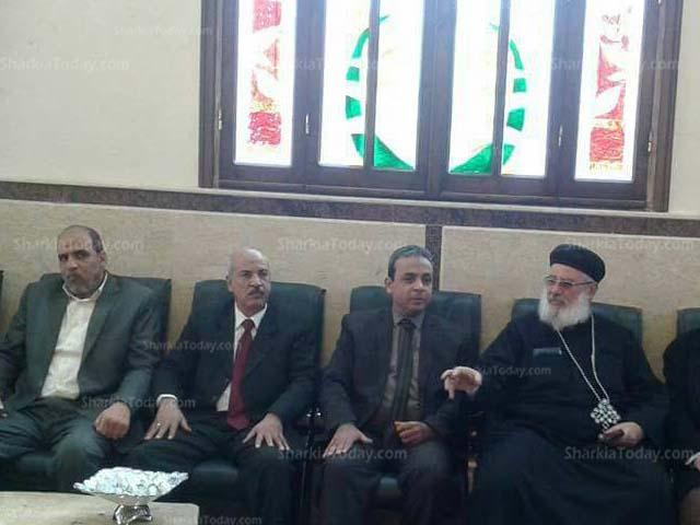 صورة إدارة أبوكبير التعليمية تشارك الأقباط عيدهم بكنيسة مريم العذراء