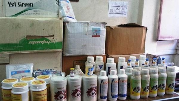 صورة الشرقية.. ضبط 2455 عبوة أدوية بيطرية مخالفة بمركز مشتول السوق
