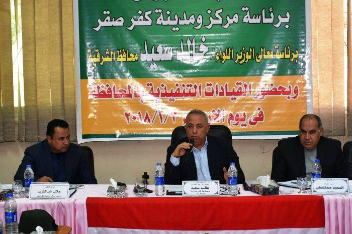 صورة رئيس شركة مياه الشرب يتدخل لحل أزمة عزبة سمعان بكفر صقر