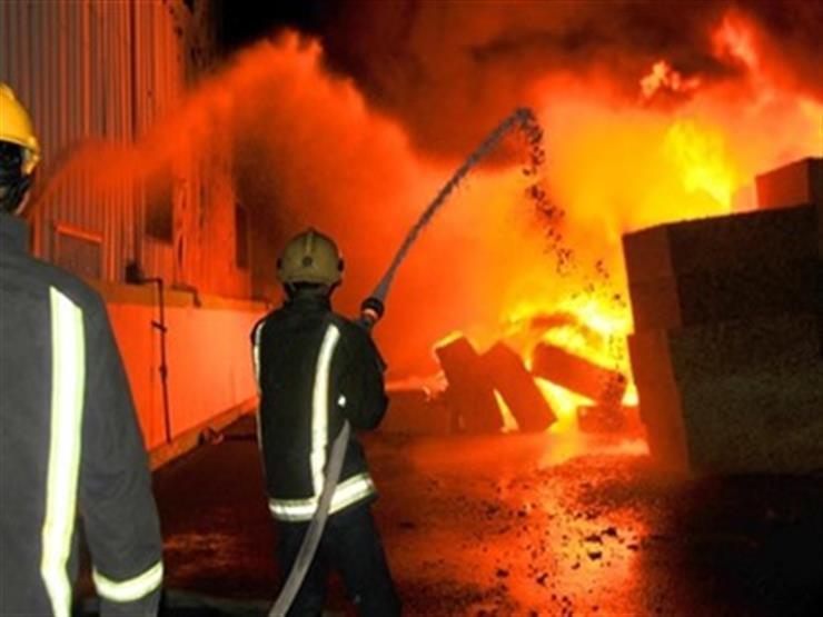 صورة انفجار هائل بمستودع اسطوانات بوتاجاز في أسيوط