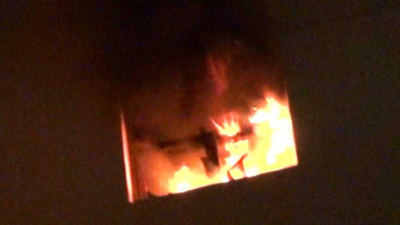 حريق في شقة بقرية صفط الحنا بأبوحماد