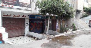 خراب بيوت أصحاب المكتبات الموجودة أمام جامعة الزقازيق