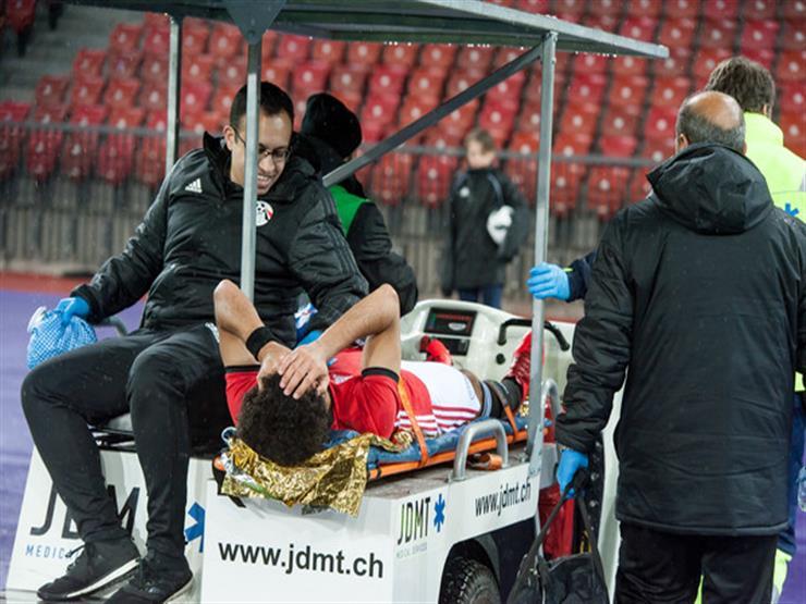 صورة إصابة محمد الشناوي وعلي جبر في تدريب منتخب مصر