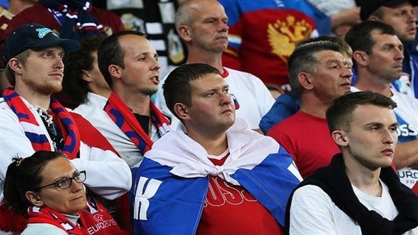 صورة القبض على مشجعين بعد مباراة مصر وروسيا
