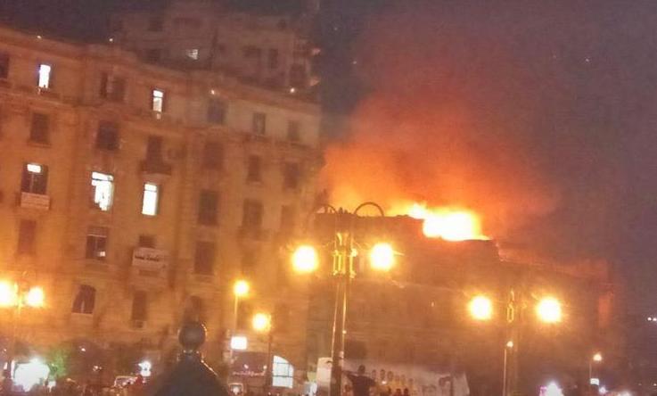 حريق هائل بمنزل