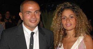 عمرو دياب مع زوجته في أول ظهور