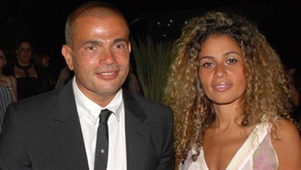 صورة عمرو دياب مع زوجته في أول ظهور بعد شائعات الطلاق